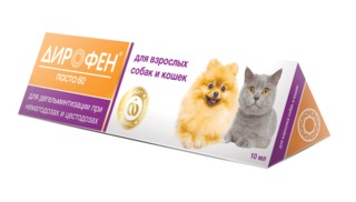 Dirophen paste 60 for adult dogs and cats