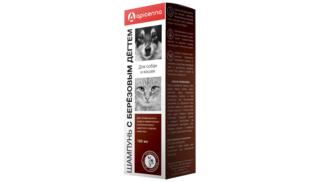 Birch tar shampoo